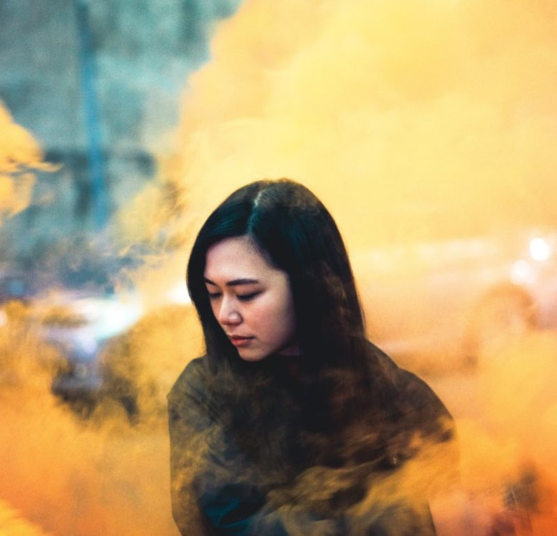 smoke grenade photography