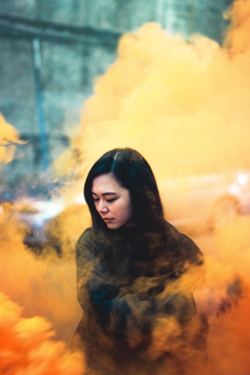 smoke grenade photography