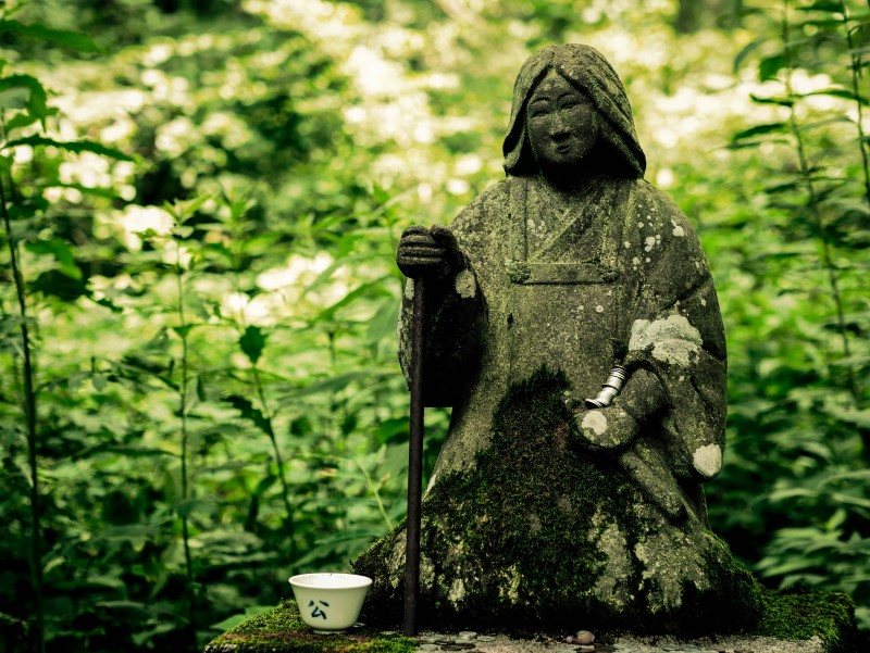 stone statue in Japan