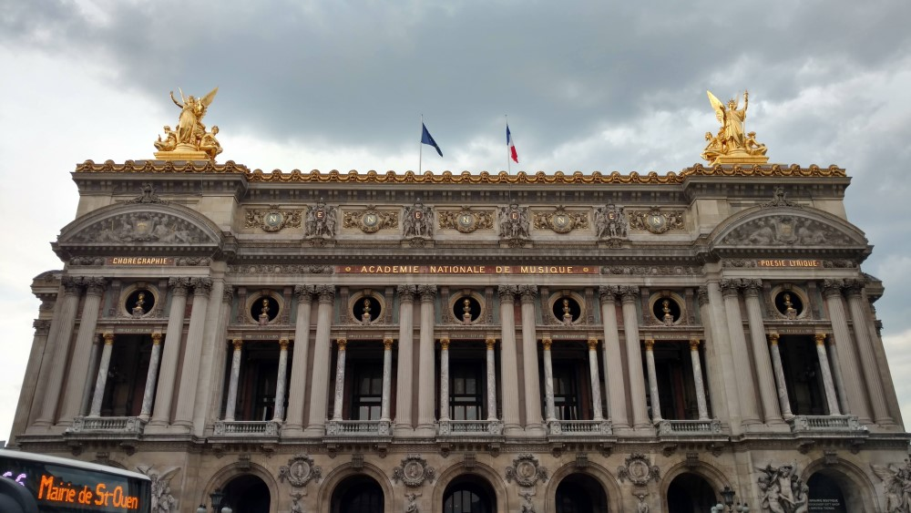 Outside facade of the Paris Opera House - Palais Garnier