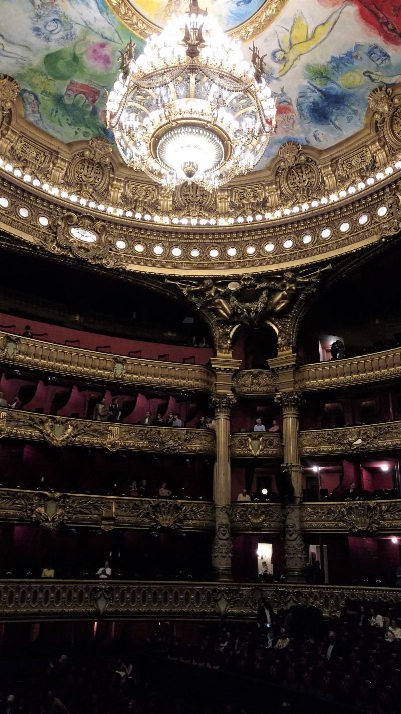Interior theatre of the Paris Opera House - Palais Garnier