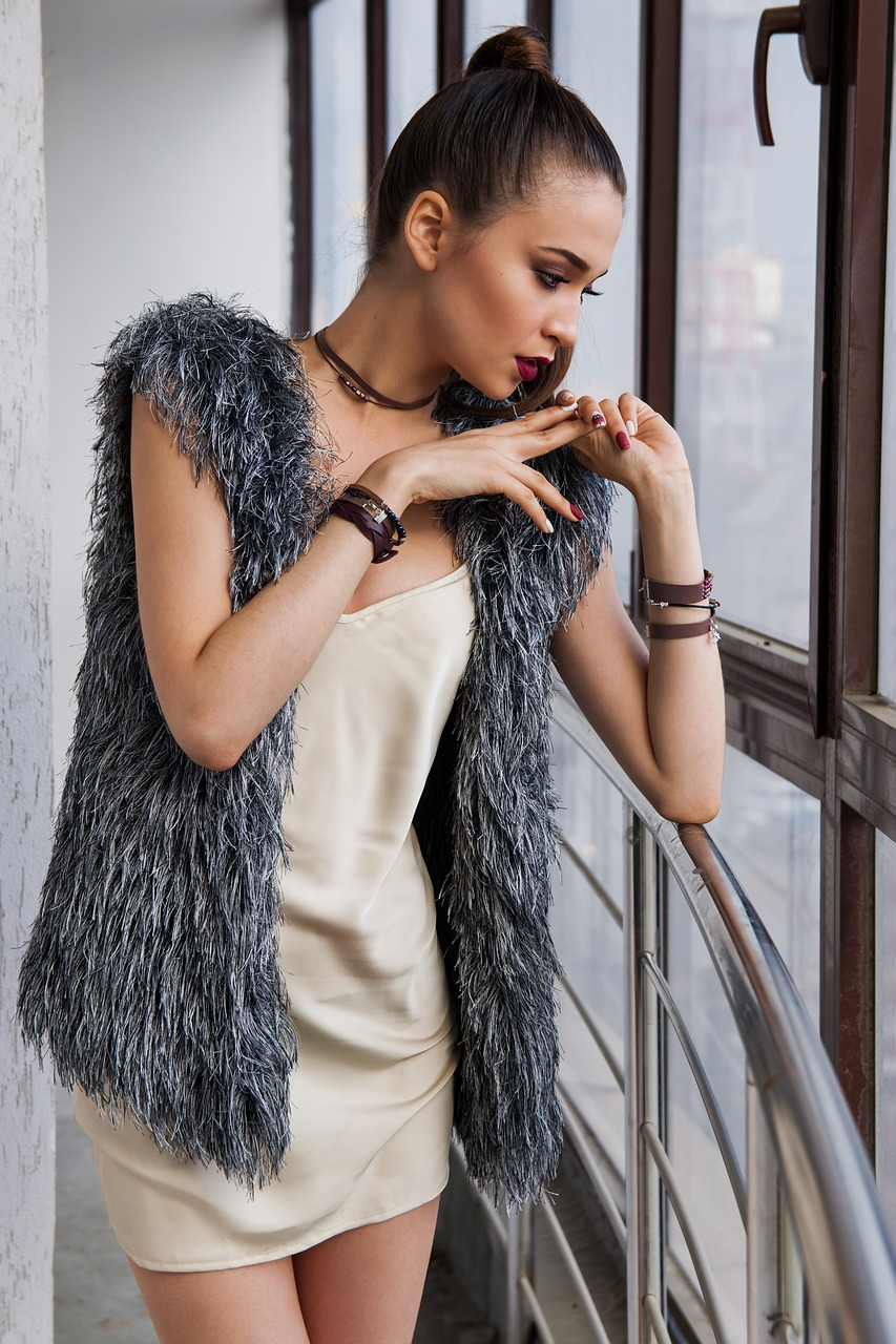 Woman dressed fashionably