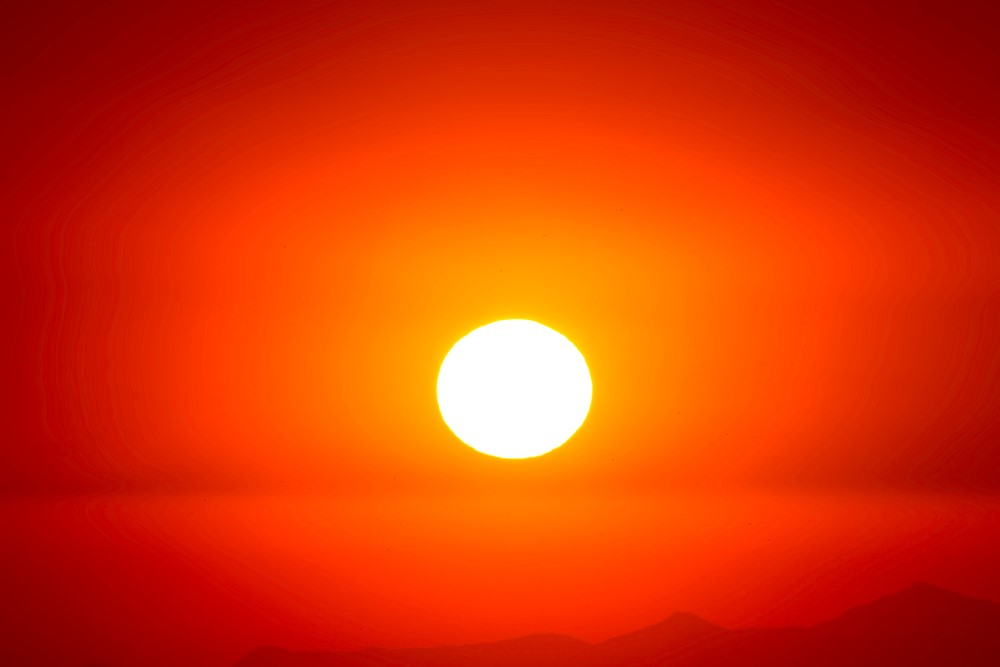yellow orange red sun hot white heat love - like the poetry of Hafiz