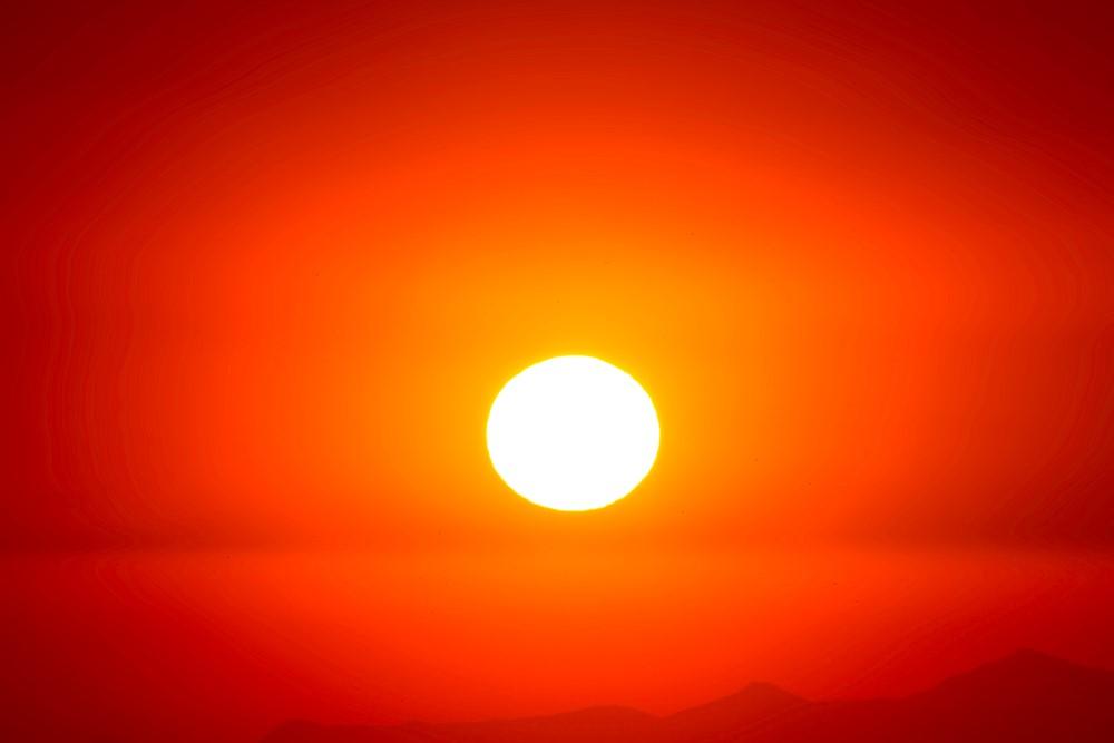 yellow orange red sun hot white heat love - like the poetry of Hafiz