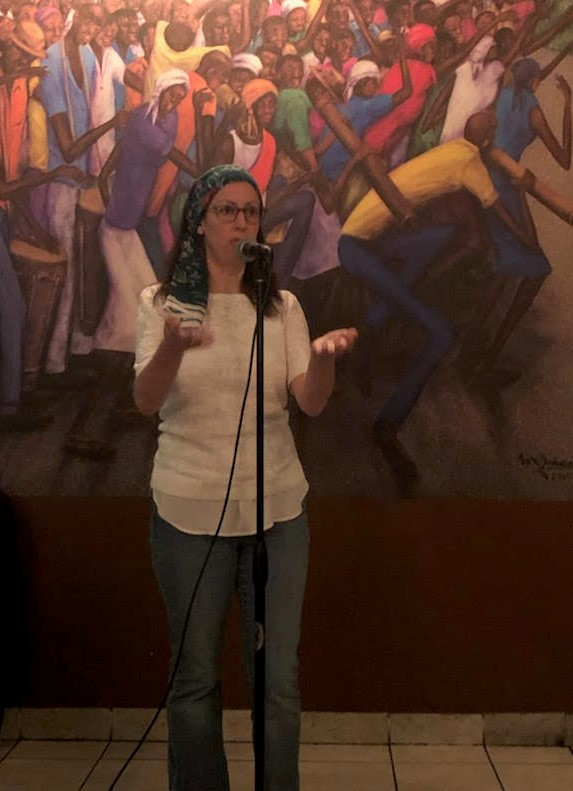Liza Achilles was a featured poet at Poetry at the Port 1
