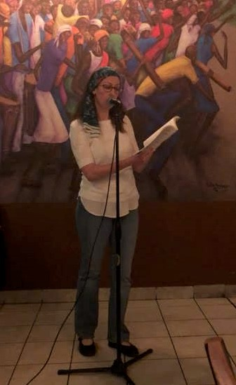 Liza Achilles was a featured poet at Poetry at the Port 5