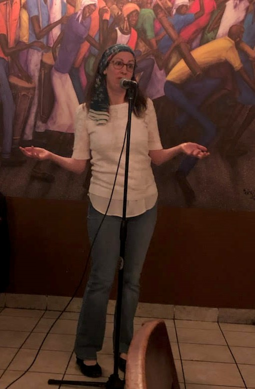 Liza Achilles was a featured poet at Poetry at the Port 6
