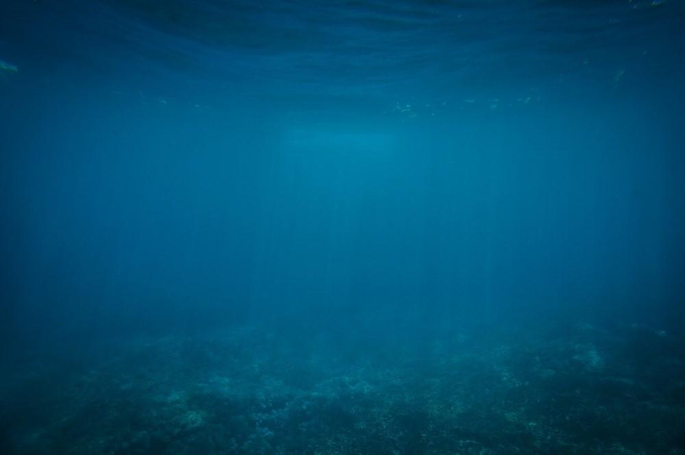 underwater deep blue sea