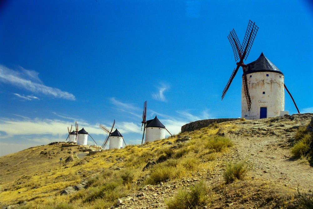 windmills in Consuegra Spain