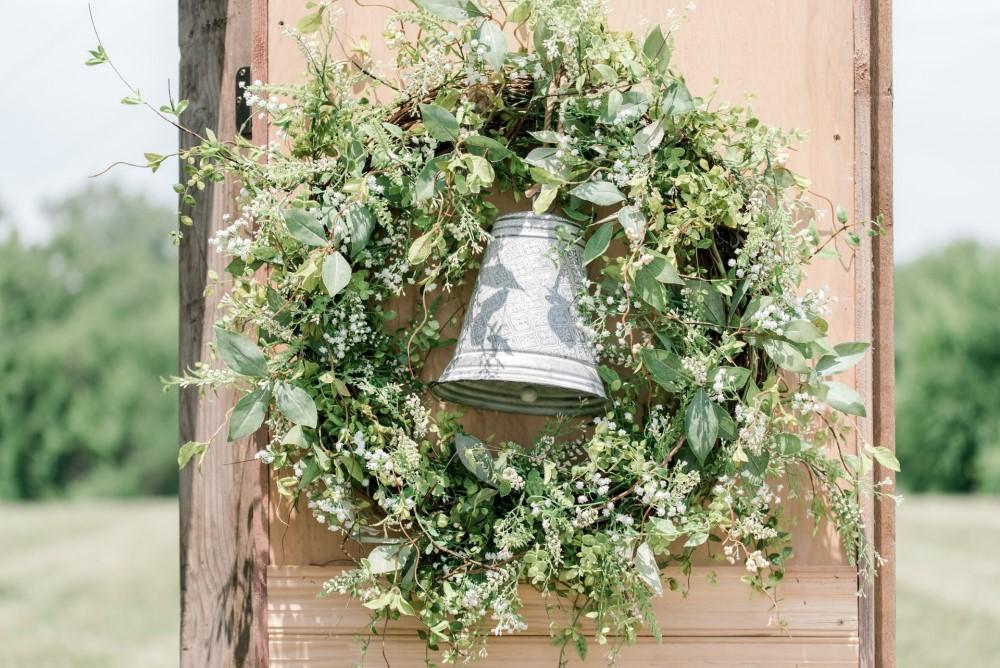 bell in a wreath